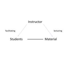 facilitating vs lecturing
