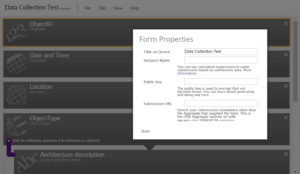 ODK Form Properties