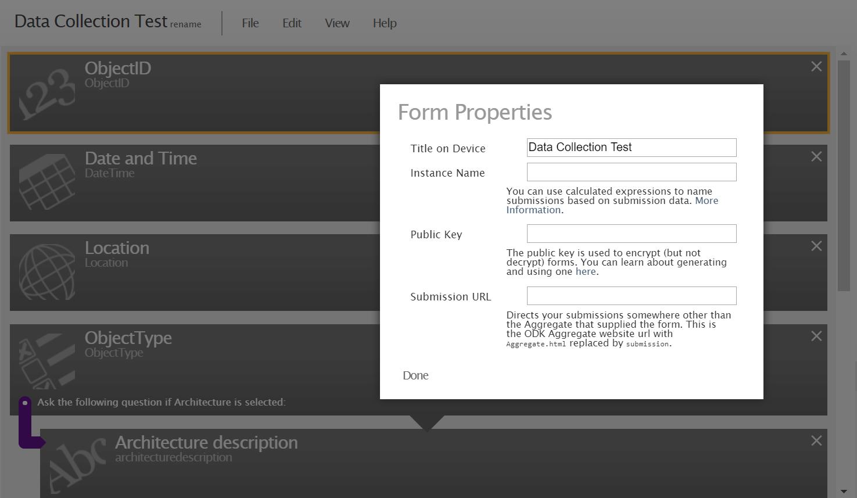 ODK Form Properties